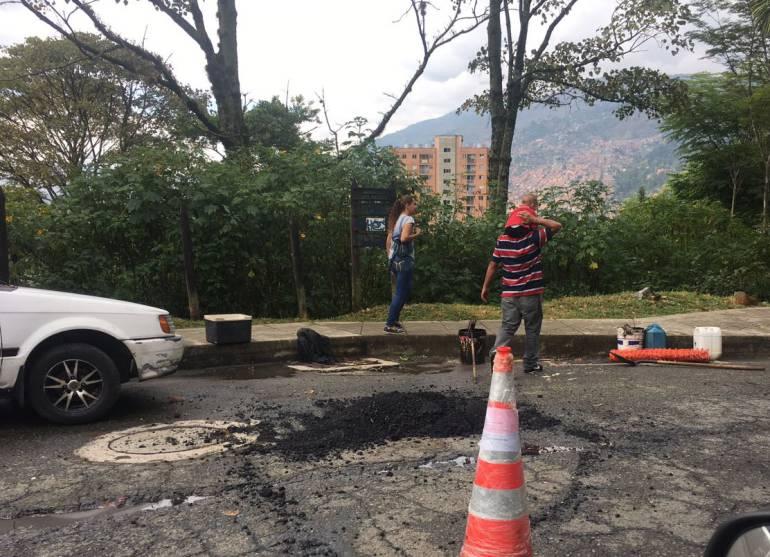 Más de mil huecos se han tapado en Medellín durante agosto