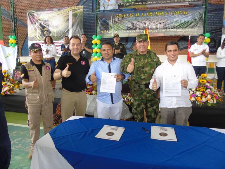 Medellín, Cocorná, El Peñol y San Luis, libres de minas antipersonales — FOTOS