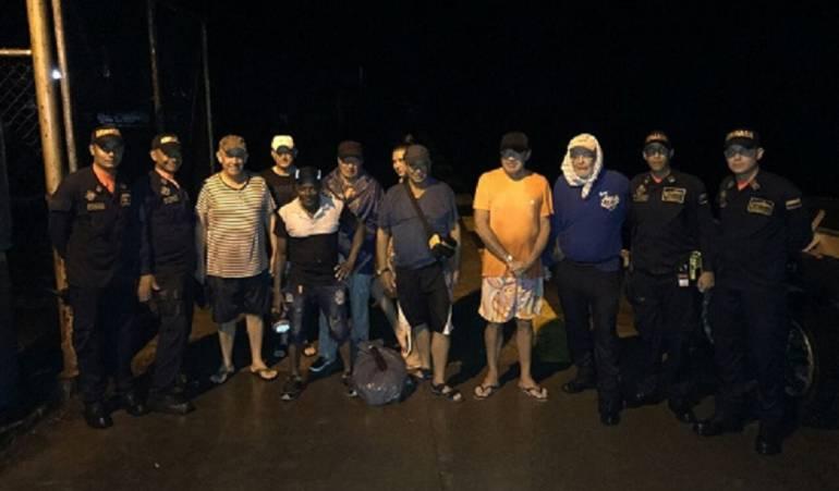Bahía Solano Armada Nacional: Ocho personas rescatadas por la Armada Nacional en Bahía Solano