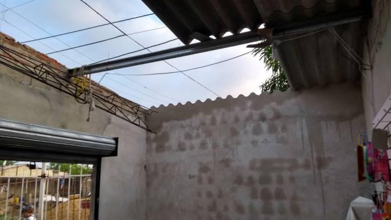 Una de las más de 200 casas afectadas en Galapa