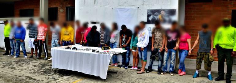 Capturan a 26 persona de la banda El Laberinto en Rionegro