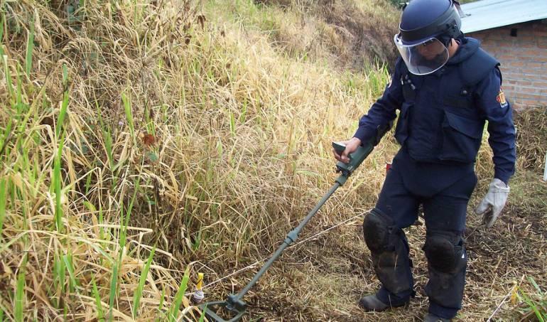 desminado humanitario Tolima: Arranca proceso de desminado humanitario en Roncesvalles, Tolima