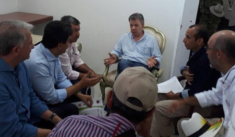 Arroceros de Huila presidente Santos: Arroceros de Huila fueron escuchados por el presidente Santos