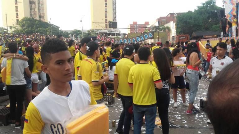 Fanáticos partido Colombia-Brasil, Barranquilla