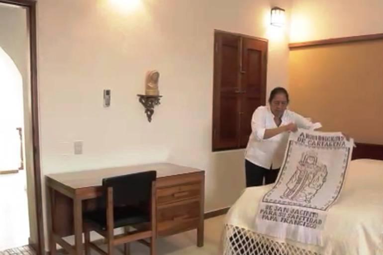 Habitación Uno de la casa arzobispal en Cartagena, lista para el descanso del Papa Francisco: Habitación Uno de la casa arzobispal en Cartagena, lista para el descanso del Papa Francisco