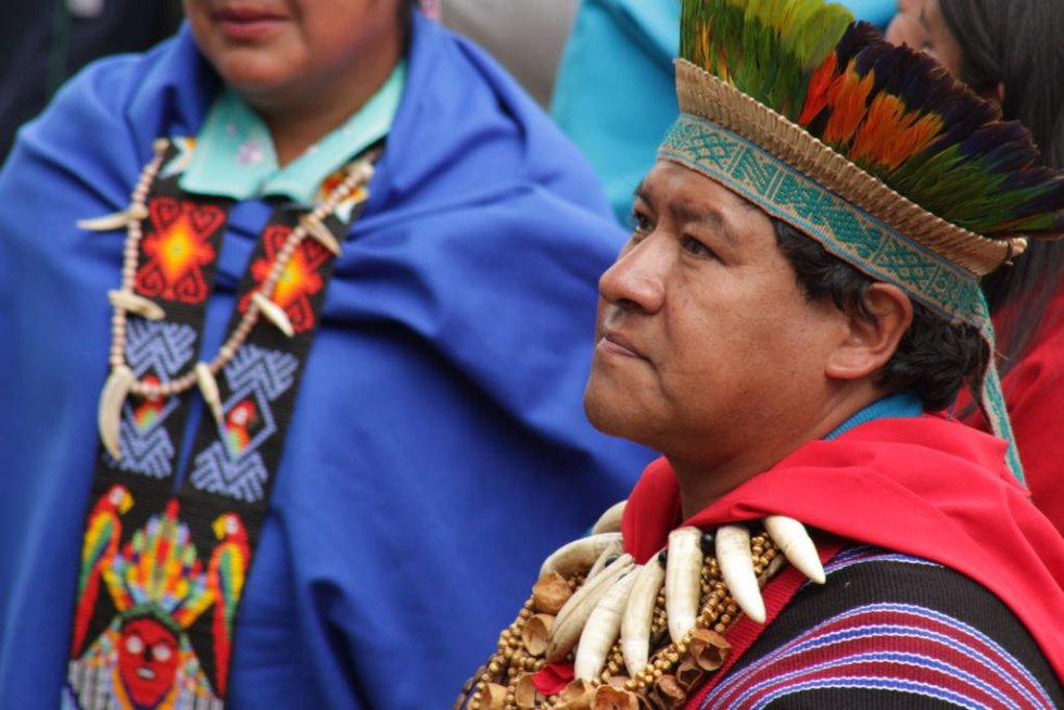 Las etnias estuvieron presentes en el discurso del sumo pontífice