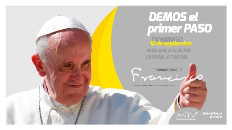 En vivo Visita del papa Francisco a Colombia: Telecaribe revela su nueva imagen durante visita del Papa a Cartagena