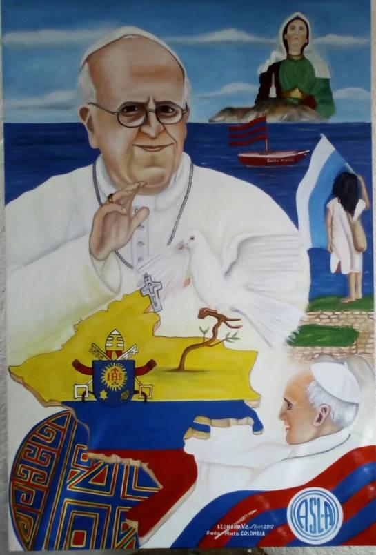 Cuadro para regalar al papa: Leonardo Velásquez tiene listo el óleo que desea regalarle al papa Francisco