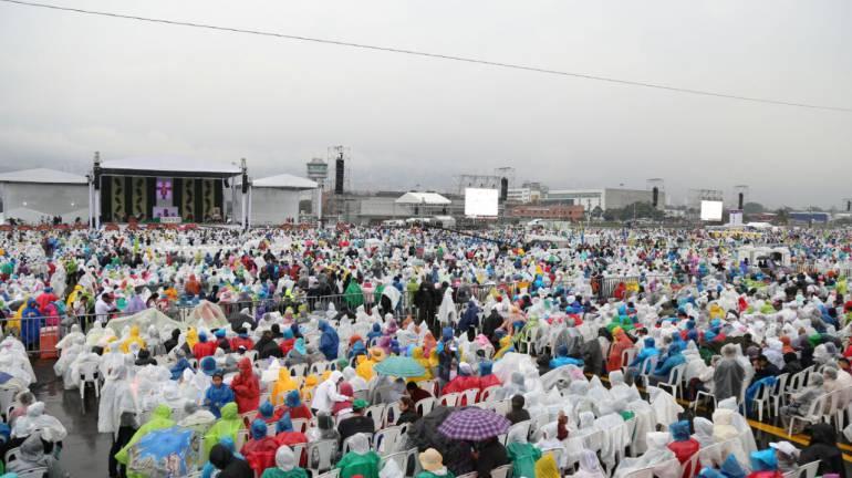 Excelente comportamiento de los ciudadanos de Medellín durante la visita del Papa Francisco