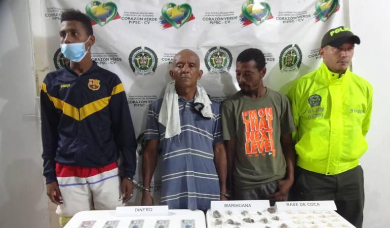 Capturan a tres reconocidos expendedores de droga en Palenque, Bolívar