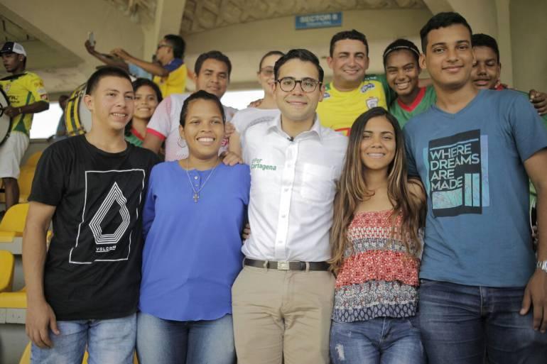 Con barristas y deportistas cartageneros, alcalde Sergio Londoño se conectó con los ciudadanos: Con barristas y deportistas cartageneros, alcalde Sergio Londoño se conectó con los ciudadanos