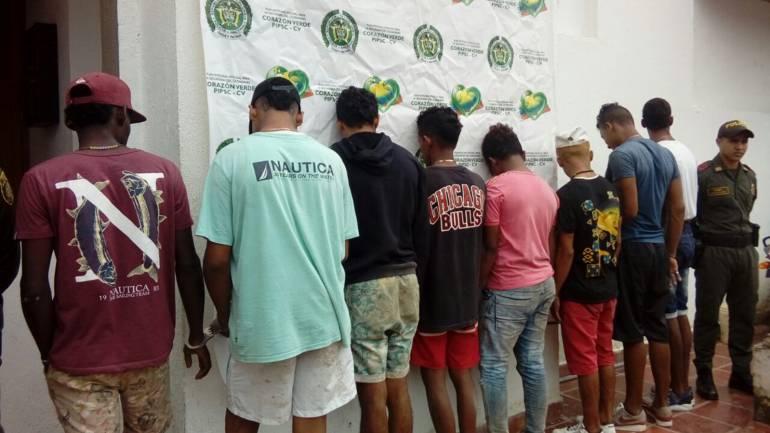 Diez presuntos asaltantes, capturados en Arjona, Bolívar: Diez presuntos asaltantes, capturados en Arjona, Bolívar