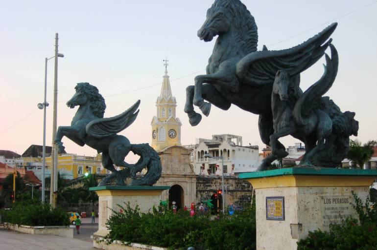 Monumento de Los Pegasos de Cartagena será totalmente nuevo: Monumento de Los Pegasos de Cartagena será totalmente nuevo
