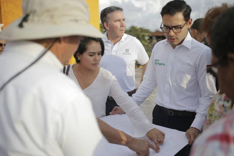 Alcalde de Cartagena realizó recorrido de inspección en calles del Centro Histórico: Alcalde de Cartagena realizó recorrido de inspección en calles del Centro Histórico