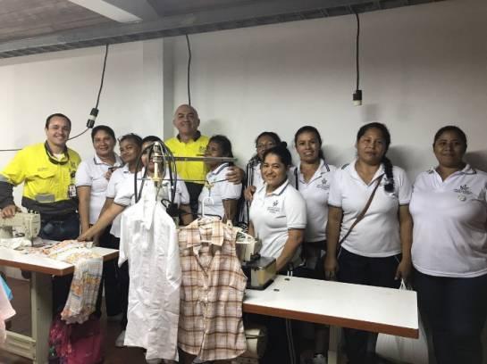 Cerro Matoso, en alianza con la Casa de la Mujer, genera emprendimiento textil