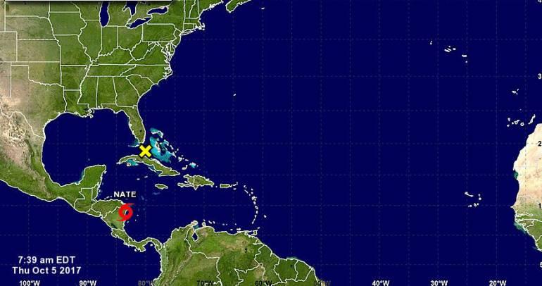 Huracanes: Alerta en San Andrés por tormenta Nate formada en el Caribe