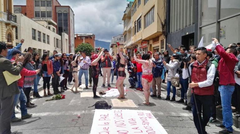 Movilización en Tumaco: Plantón de rechazo a muerte de campesinos en Nariño