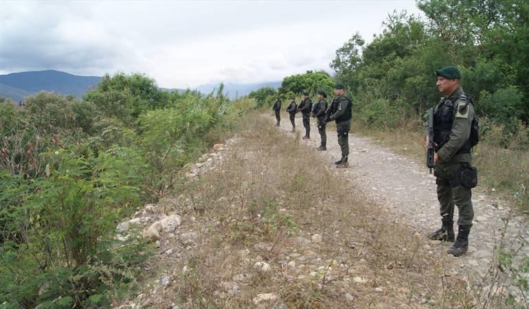 Policía hace presencia en la zona de frontera
