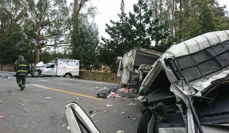 Accidente de tránsito cerca de Mondoñedo: Un muerto y tres heridos deja choque múltiple cerca de Mondoñedo