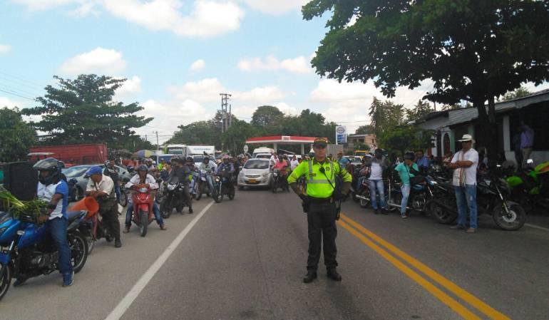 Paro arrocero: Problemas de movilidad vía Saldaña - Neiva por paro arrocero