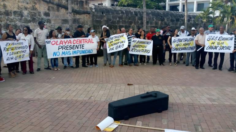 Presidentes de juntas comunales de Cartagena protestan por inseguridad