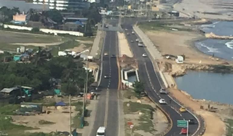 Habilitan ambos carriles del puente La Bocana, en Cartagena