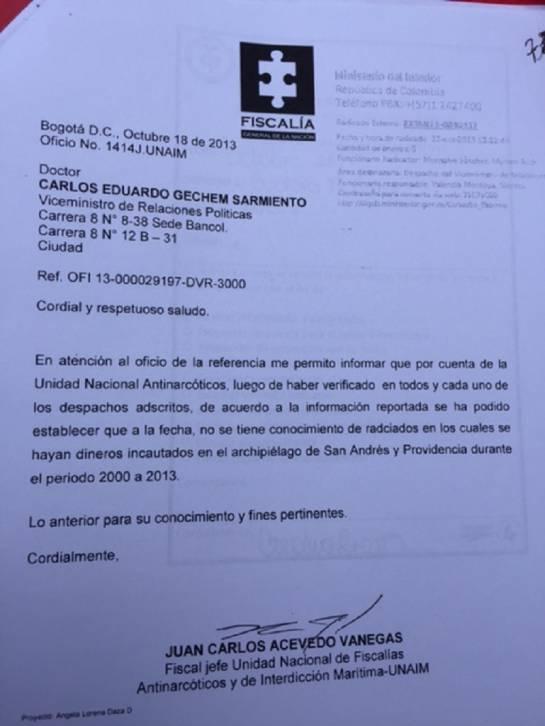San Andrés 4 millones de dólares: 4 millones de dólares en efectivo incautados en San Andrés están perdidos
