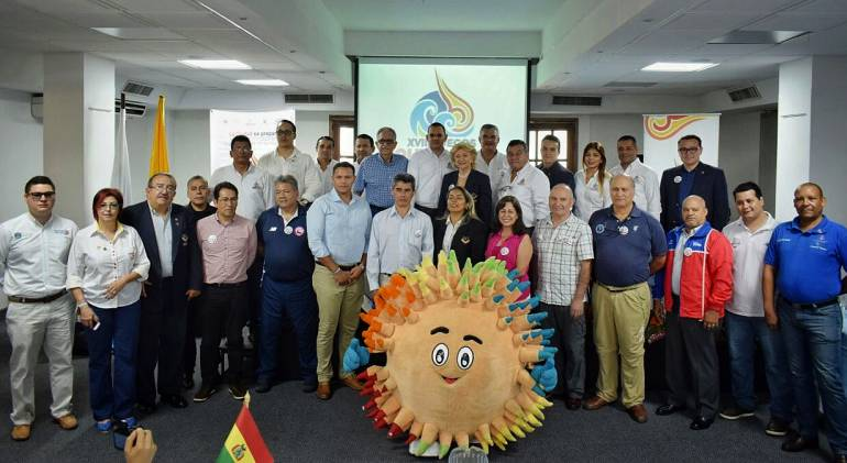Jefes de Misión de los países que participarán en los Juegos Bolivarianos. /FOTO ALCALDÍA