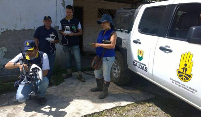 La UDEGER en Caldas adquirió nuevos drones para vigilar las zonas de riesgo por la lluvia