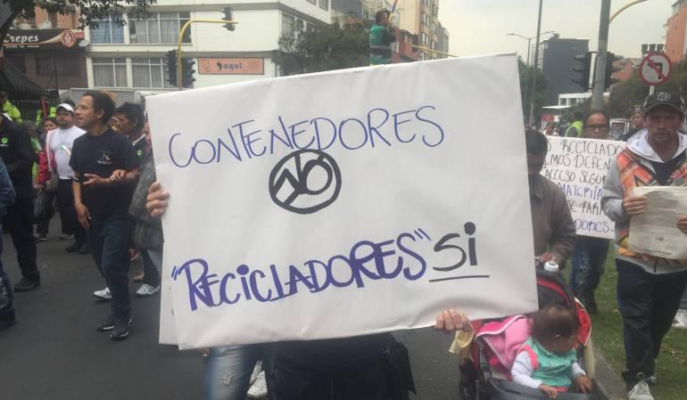 Recicladores: Recicladores se movilizan contra nuevo esquema de aseo en Bogotá