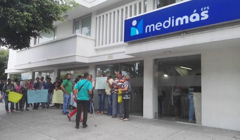 Protesta de usuarios Medimas Cúcuta