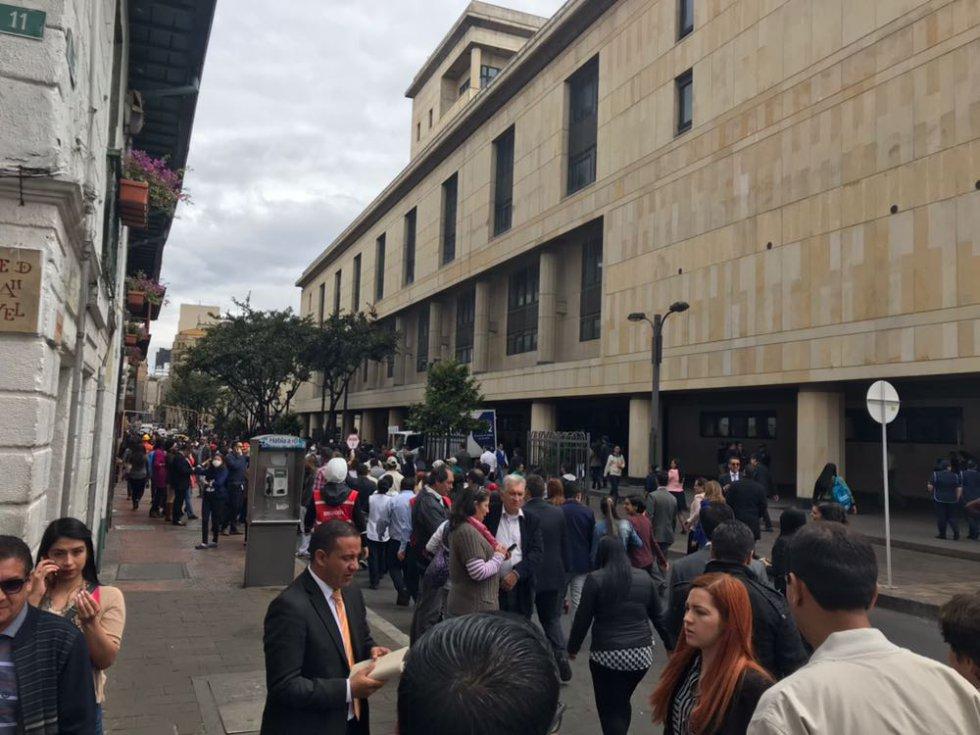 El centro de Bogotá tuvo gran acogida por parte de los ciudadanos. Este sector de la ciudad es uno de los más inestables para un terremoto, debido a sus edificaciones antiguas.