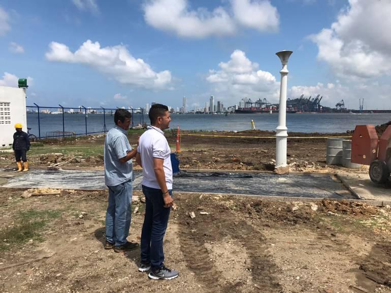 Obras de Electricaribe en el Club Naval no son para rellenar la bahía: Obras de Electricaribe en el Club Naval no son para rellenar la bahía