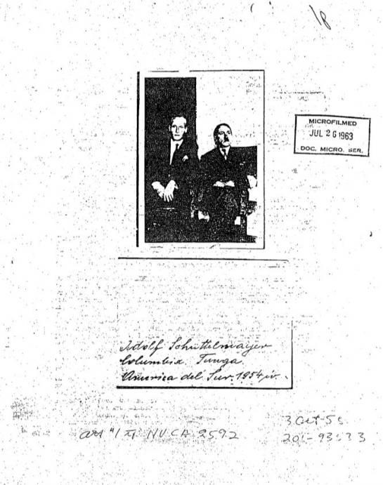 Historiadores colombianos de acuerdo con que Hitler sí habría estado en Tunja en los años 50: Historiadores colombianos de acuerdo con que Hitler sí habría estado en Tunja en los años 50