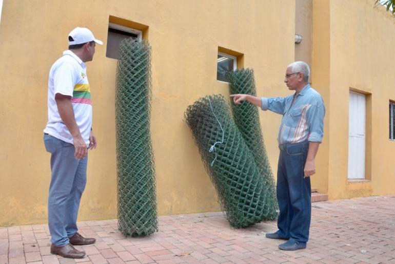 Trabajan en recuperación del parque H.L. Román de Cartagena: Trabajan en recuperación del parque H.L. Román de Cartagena