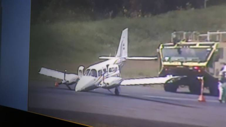 Avión aterrizó de emergencia en el Aeropuerto Olaya Herrera