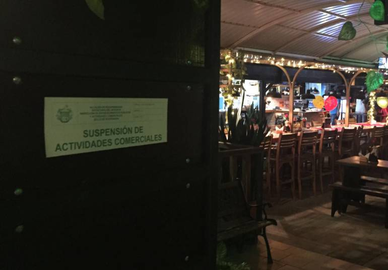 CIERRAN VARIOS NEGOCIOS DE COMIDAS Y SUPERMERCADOS EN BUCARAMANGA: Sellaron dos restaurantes y un Éxito en Bucaramanga