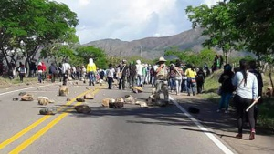 Bloqueo de vías en Huila: En Huila, indígenas bloquean la vía nacional