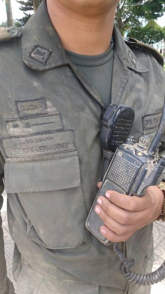 Equipos de comunicaciones que se pudieron rescatar