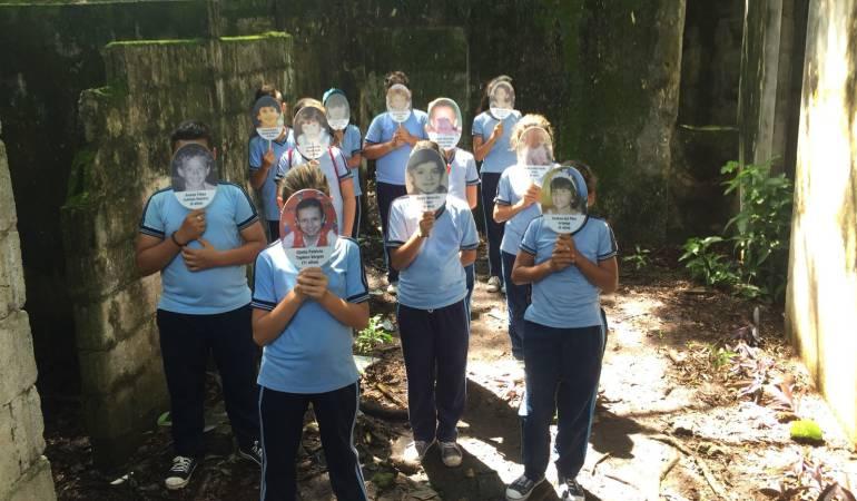 Homenaje a niños desaparecidos de Armero, Tolima