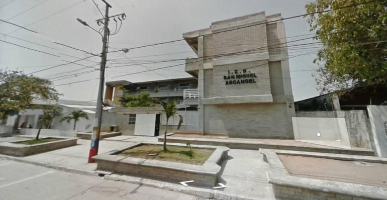 Colegio San Miguel Arcangel, barrio La Luz, Barranquilla.
