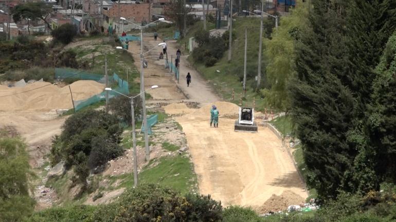 Obras en quebrada La Nutria