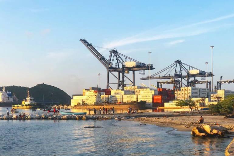 Desde el Puerto de Santa Marta la exportación de uchuva. /FOTO PUERTO SAMARIO