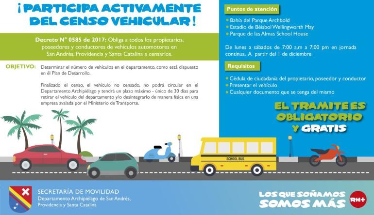 Noticias de San Andrés y Providencia: Realizan en San Andrés censo de vehículos automotores