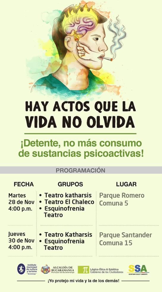 Bucaramanga Sin Violencia Protejo Mi Vida Y La De Los Demás: Bucaramanga, por la lucha contra la violencia y el abuso de drogas
