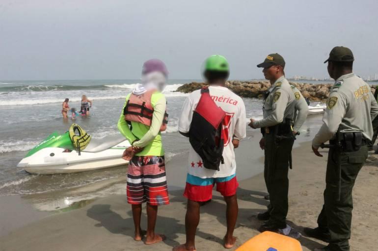 Capturan a piloto de moto acuática que habría violado a una mujer en Cartagena