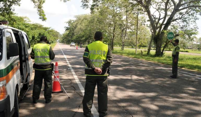 Más de 10 puestos de control estarán en las vías de Risaralda durante este mes
