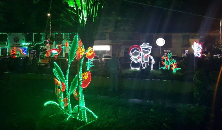 Alumbrado navideño en Filandia, Quindío