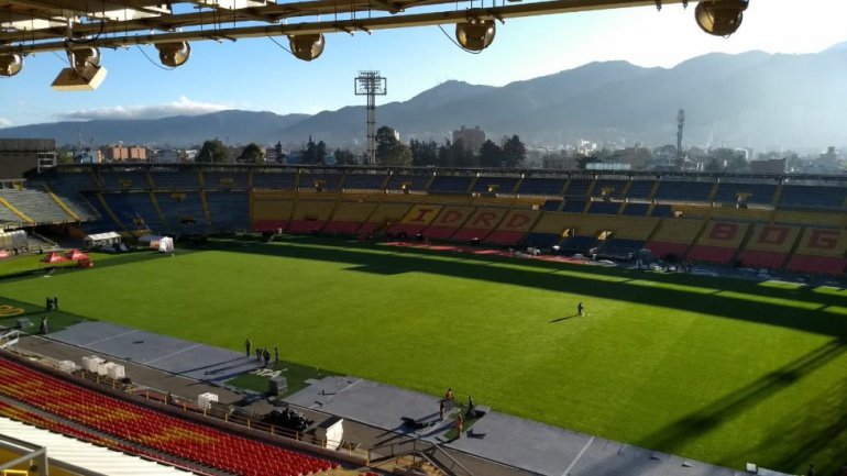 Semifinales de la Liga Águila: En buen estado quedó la gramilla de El Campín luego de concierto de Bruno Mars