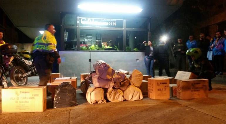 Bogotá tonelada de pólvora: Incautan cerca de una tonelada de pólvora en el sur de Bogotá